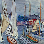 Dufy, Raoul – Sailing at Trouville, Part 05 Hermitage