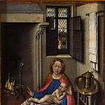 Campin, Robert – Madonna and Child by the fireplace, Part 05 Hermitage