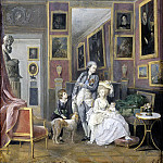 Count Alexander Stroganoff with his wife Ekaterina and children Paul and Natalie, Part 05 Hermitage