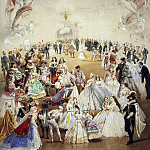 Zichy, Mihaly – fancy dress ball at the palace of Princess Helena Kochubey in honor of Emperor Alexander II on Feb. 5, 1865, Part 05 Hermitage