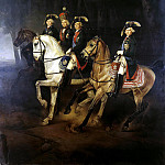 Equestrian Portrait of Emperor Paul I c and sons Joseph, Palatine of Hungary, Part 05 Hermitage