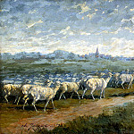 Part 05 Hermitage - Jacque, Charles Emile - Landscape with a herd of sheep