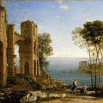 Gellee, Claude – Landscape with Apollo and the Sibyl Kuma, Part 05 Hermitage