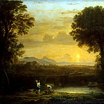 Gellee, Claude – Landscape with Tobias and the Angel, Part 05 Hermitage