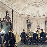 Part 05 Hermitage - Zichy, Mihaly - Alexander II with a group of governmental table in the Gothic interior