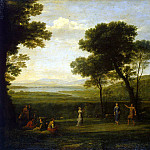 Part 05 Hermitage - Gellee, Claude - Landscape with dancing