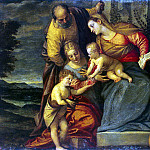 Caliari, Benedetto – Holy Family with St. Catherine, Anna and John, Part 05 Hermitage
