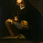 Philosopher with a book, compass and square, Part 05 Hermitage
