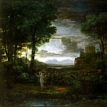 Gellee, Claude – Landscape with the struggle of Jacob with the angel, Part 05 Hermitage