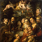 Jordaens, Jacob – Self-portrait with his parents, brothers and sisters, Part 05 Hermitage