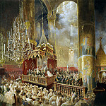 Part 05 Hermitage - Zichy, Mihaly - Kornatsiya Alexander II in the Dormition Cathedral in the Moscow Kremlin on Aug. 26, 1856