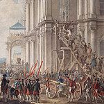 Catherine II on the balcony of the Winter Palace, hailed Guard and the people on the day of the coup 28 June 1762. Fifth leaf, Part 05 Hermitage