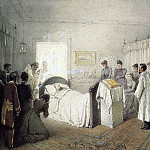 Zichy, Mihaly – Requiem for Alexander III in his bedroom at the Petit Palace in Livadia, Part 05 Hermitage