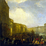 Karlevaris, Luca – Regatta on the Grand Canal in Venice in honor of Frederick IV of Denmark March 4, 1710, Part 05 Hermitage