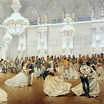 Zichy, Mihaly – Ball in the Concert Hall of the Winter Palace during the official visit of the Shah Nasir al-Din in May 1873, Part 05 Hermitage