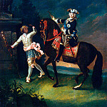 Portrait of Elizabeth on horseback with blackamoor, Part 05 Hermitage
