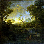 Dugue, Gaspard – Landscape with fishermen, Part 05 Hermitage
