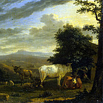 Dujardin, Karel – Landscape with animals, Part 05 Hermitage