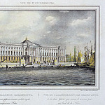 Ivanov PS – View of the Academy of Fine Arts with two sphinxes, decorating a new descent Neva River, Part 05 Hermitage