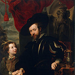 Portrait of Rubens and his son Albert, Part 05 Hermitage