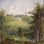 Landscape with a manor house on the estate Gostilitsa near St. Petersburg, Part 05 Hermitage