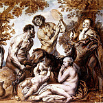 Jordaens, Jacob – Baby Jupiter fed milk goats Amaltei, Part 05 Hermitage