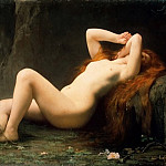 Lefebvre, Jules Joseph – Mary Magdalene in the grotto, part 07 Hermitage