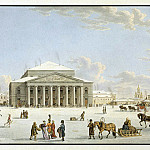 part 07 Hermitage - Laurie, Gabriel Ludwig Senior Laurie, Mathias Gabriel Associate - View of the Bolshoi Theatre in St. Petersburg