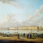 part 07 Hermitage - Mayr Johann Georg de - View of the Winter Palace of the Vasilevsky Island