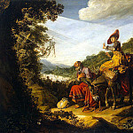 Lastman, Pieter – Abraham on the way to Canaan, part 07 Hermitage