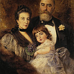 Group Portrait of MS Volkov, SN Volkova and SM Volkov-Manzeya, Konstantin Makovsky