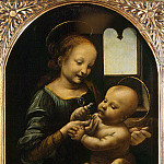 Leonardo da Vinci – Madonna with Child , part 07 Hermitage