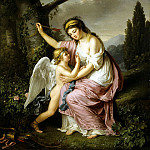 Lemoine, Marie-Victoire – Woman and Cupid, part 07 Hermitage