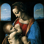 Leonardo da Vinci – Madonna with Child, part 07 Hermitage