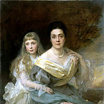 Laszlo Fülöp – Portrait of a Lady with her daughter , part 07 Hermitage