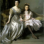 Laszlo Fülöp – Portrait of a Lady with her daughter, part 07 Hermitage