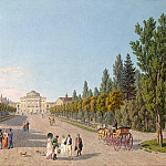 part 07 Hermitage - Laurie, Gabriel Ludwig Senior Laurie, Mathias Gabriel Associate - View of the Grand Palace in Pavlovsk from the park