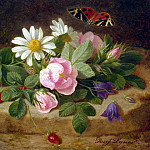 Launer, Josef – Bouquet of Flowers with a Butterfly, part 07 Hermitage