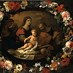 part 07 Hermitage - Loir, Nicolas Pierre Monnuaye, Jean-Baptiste - Holy Family in a wreath of flowers