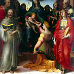 Betrothal of St. Catherine, Domenico Beccafumi