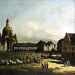Part 01 Hermitage - Bellotto, Bernardo - New Market Square in Dresden