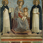 Angelico, Fra Beato – Madonna and Child with St. Dominic and St. Thomas Aquinas, Part 01 Hermitage
