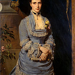 Angeli, Heinrich von – Portrait of Grand Duchess Maria Feodorovna, Part 01 Hermitage