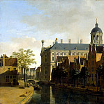 Part 01 Hermitage - Berkheyde, Gerrit Adriaanse - Type of channel and the town hall in Amsterdam