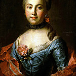 Part 01 Hermitage - Argunov, Ivan Petrovich - Portrait of an Unknown Woman in blue dress