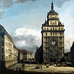 Part 01 Hermitage - Bellotto, Bernardo - Square in front of the church the Cross in Dresden