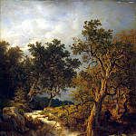 Achenbach, Andreas – Landscape with a stream, Part 01 Hermitage