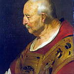 The head of a bald old man, Jacob Adriaenszoon Backer