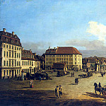 Part 01 Hermitage - Bellotto, Bernardo - Square market in the New Town Dresden