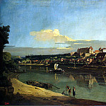Bellotto, Bernardo – View of Pirna from the right bank of the Elbe, Part 01 Hermitage